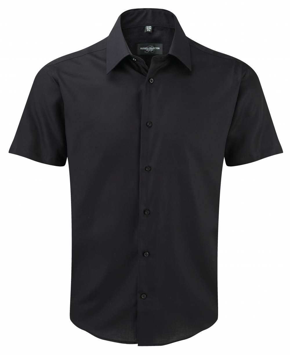 The Van Heusen Short Sleeve Non-Iron % Cotton Aviator Shirt has shoulder straps, two true flap pockets, pencil slot, color matched buttons. Short sleeves are finished with a beveled hem.