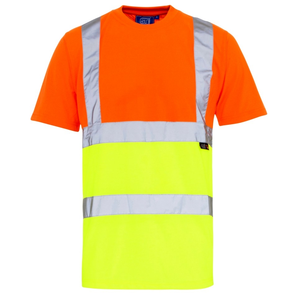 Hi vis 2 tone t shirt for Hi vis t shirt printing
