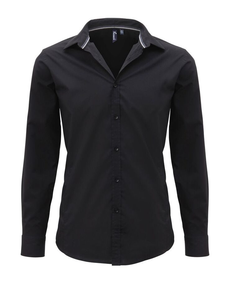 Long sleeve fitted friday shirt for Mens dress shirts black friday